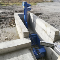 Цепная система уборки навоза в поперечном канале Patz IntelliShuttle Chain